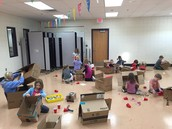 Cardboard creations at EW