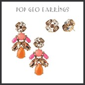 Pop Geo Earrings 2 in 1 $24