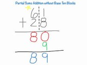Partial Sums Addition