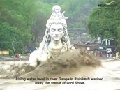 Lord Shiva statue in uttarakhand getting washed away!