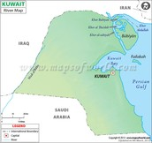 Kuwait Water Map