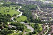 Six types of urban land use.