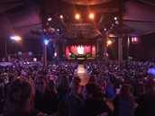 Waiting for the awards ceremony at Disneyland