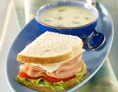 sándwich y sopa para 6.00 dólares