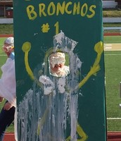 Mrs. Stone catches a pie to the face!