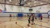 8th grade basketball in PE