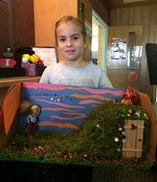 """Piper """"On the Banks of Plum Creek"""" Laura Wilder Diorama"""