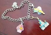 A Disney themed charm bracelet