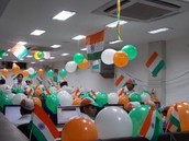 Balloons and Flags!