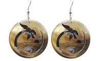Turtle Sunset Silver MOP Earrings
