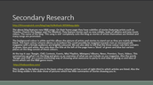 Further Secondary Research