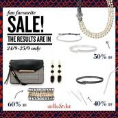 The sale pieces...
