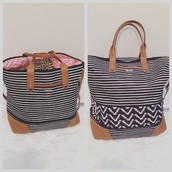 New Striped Getaway Bag
