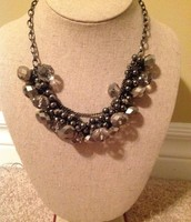 Hematite and crystal necklace from Cleo