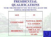 Requirements to Become President
