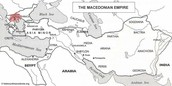 A map of where Alexander the Great has accomplished conquering
