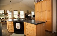 Open with ample counter space and cabnetry