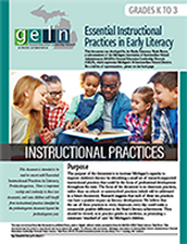 Pre-K & K-3 Essential Instructional Practices in Early Literacy