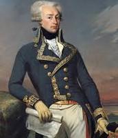 Marquis De Lafayette in uniform.