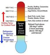 Danger Zones/ Important Temperatures
