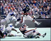 Payton was known for his great plays, like this one.