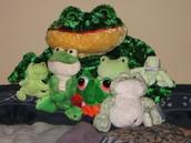 Coleccionaba los muñecos de ranas.