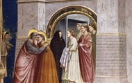 No. 6 Scenes from the Life of Joachim- 6. Meeting at the Golden Gate 1304-06