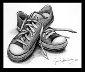 Draw a shoe in 3D perspective