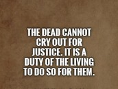 I believe in justice