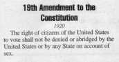 August 26, 1920: The 19th Amendment to the Constitution, granting women the right to vote. The amendment was signed into law by Secretary of State Brainbridge Colby.