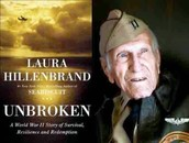 Louie and book cover of Unbroken