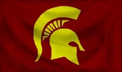This is what a spartan flag looks like.
