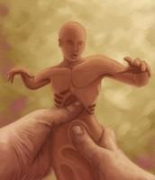 The Creation of Adam by Samuel-Hardidge