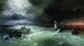 המים נסגרים על המצרים בים סוף