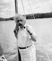 albert on a boat
