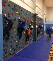 OUR AMAZING ROCK CLIMBING WALL IS HERE!