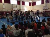 Drum Line Visits Stanton-Smith