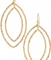 Gold Bardot Hoops $17