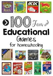 100 Educational Games for Homeschoolers