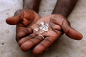 Blood diamonds up close.