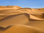Sand Dune Found In The Desert.