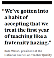 The First Year of Teaching can feel like a fraternity hazing: Does it have to be that way?