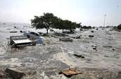 During tsunami