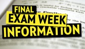 June 1st-4th Final Exam Schedule