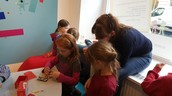 2b students  learning to use Makey Makey