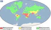What parts of the world where you get Malaria...