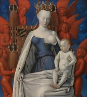 Fouquet's Madonna Surrounded by Seraphim and Cherubim, c. 1452