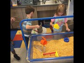 We added corn to our sand table!