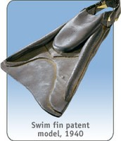 What the first swimming flippers looked like