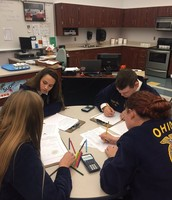 FFA Food Science Team hard at work